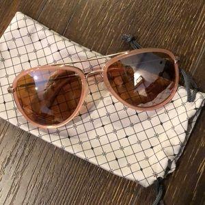NWOT Anthropologie Pink ett:twa Aviator Sunglasses